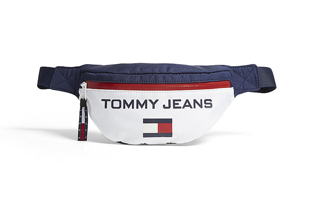 Tommy Hilfiger 90s Colorblocked Red White Navy Blue Logo Bum Bag