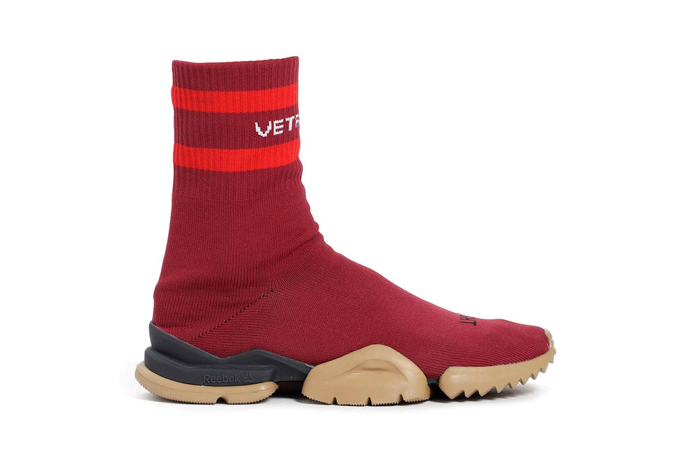 Vetements Reebok Fall Winter 2018 Sock Runner Red