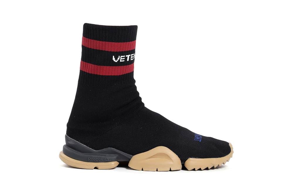 Vetements Reebok Fall Winter 2018 Sock Runner Black Red