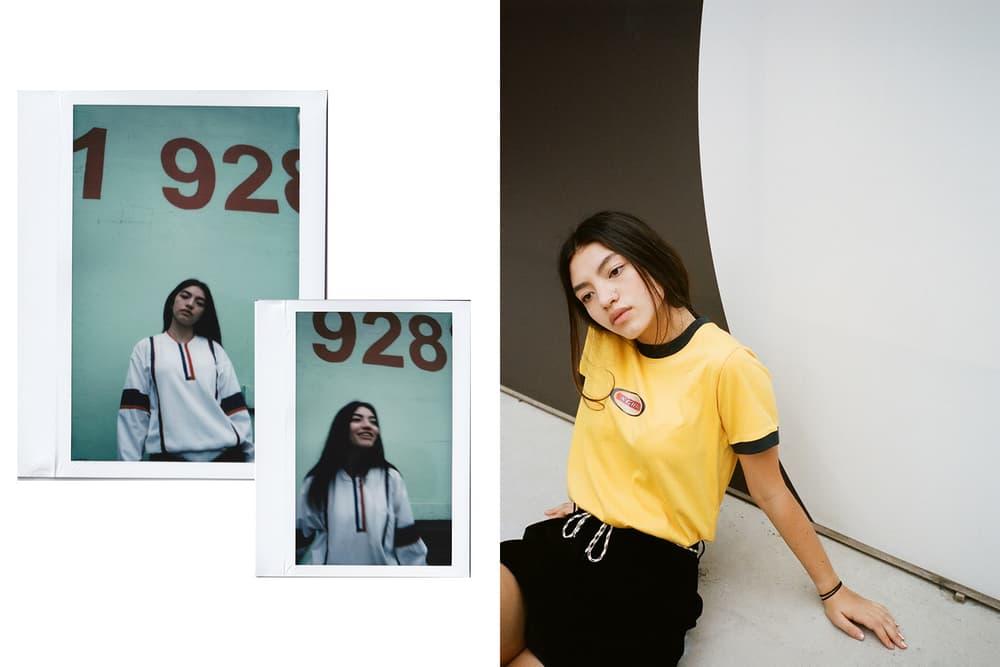 X-Girl HBX Editorial Oval Logo Short Sleeve Ringer T-Shirt Half Zip Pullover Yellow White