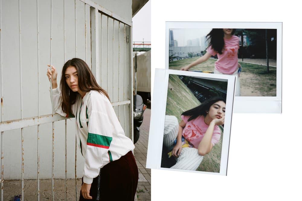 X-Girl HBX Editorial Half Zip Pullover Peach Short Sleeve Regular T-Shirt Pink White