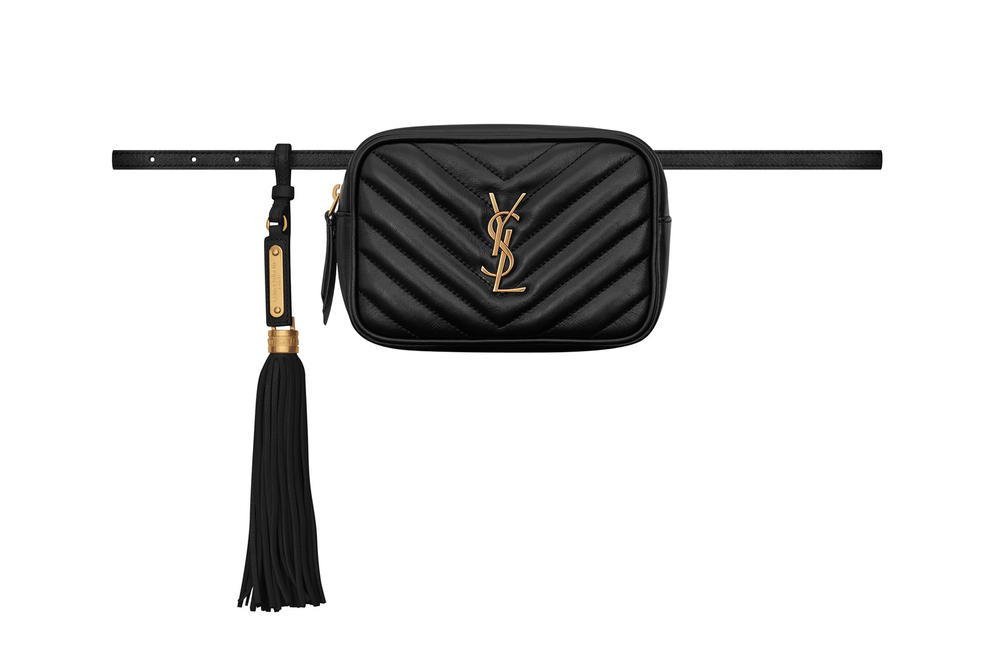YSL Saint Laurent Lou Belt Bag Black Red
