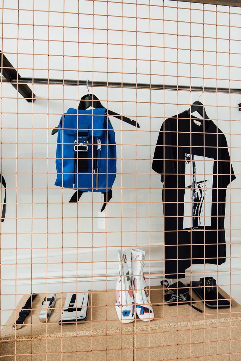 1017 ALYX 9SM Matthew Williams Nike Pop-Up Paris Fashion Week Men's Baby-X Bag T-Shirt Blue Black
