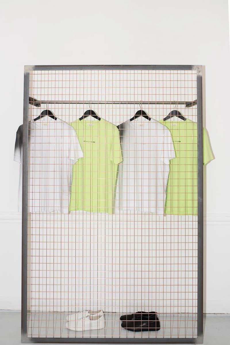 1017 ALYX 9SM Matthew Williams Nike Pop-Up Paris Fashion Week Men's T-Shirts White Green