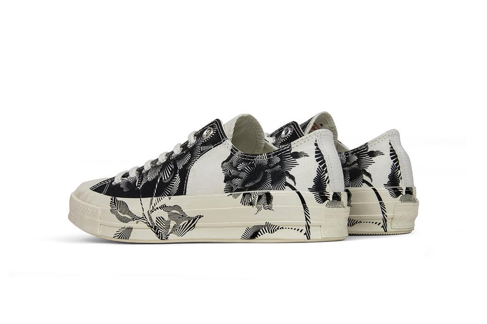 "Converse All Star Chuck 70 in ""Black/Egret"" Floral Print"