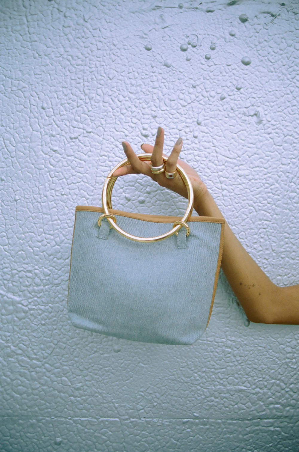Janis Studios Ethical Denim Bag Collection Upcycled Interchangeable Handles DIY Mixing Matching
