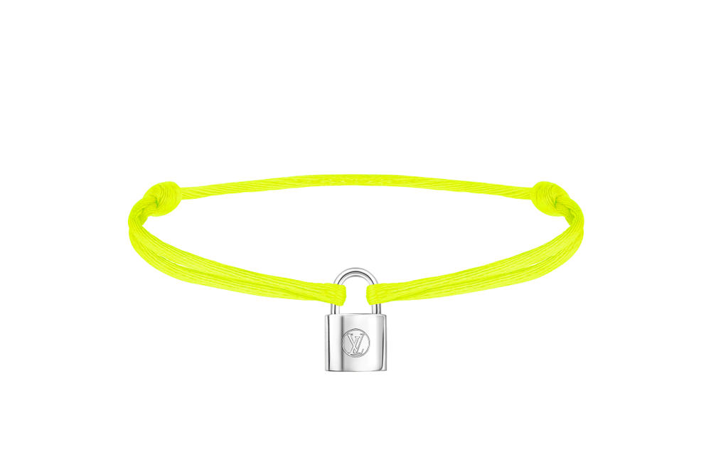 Louis Vuitton Silver Lockit Charity Bracelets UNICEF LV Locks Lock Neon Pink Orange Black Green Blue