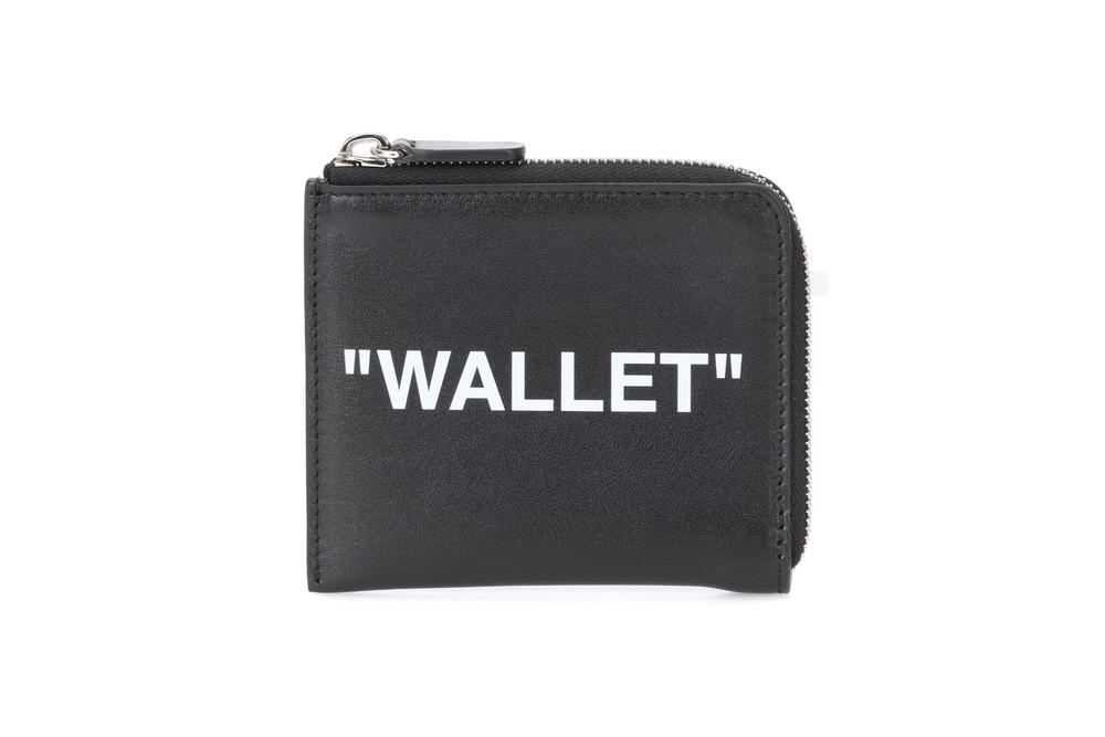 Off-White™ Black Leather Wallet Coin Pocket