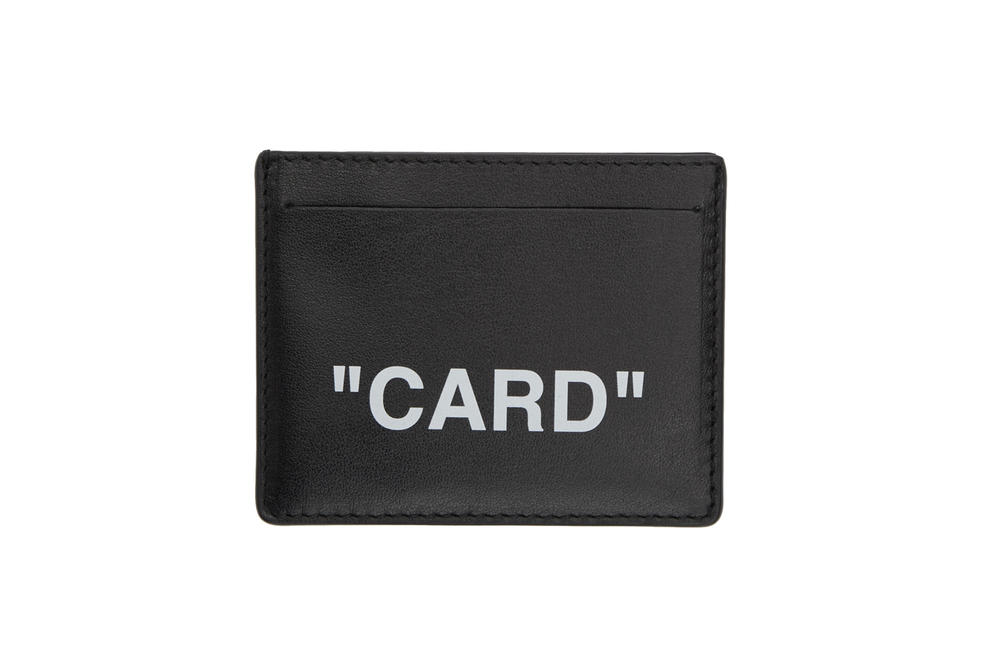 Off-White™ Card Holder Passport Holder Black Leather Travel Accessories virgil abloh