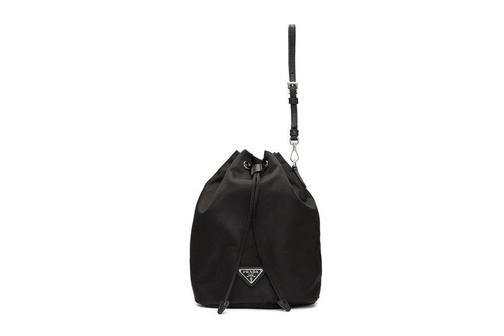 Prada Black Bucket Bag Pouch