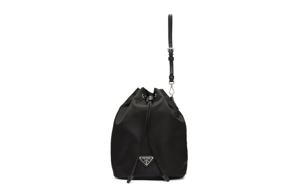 Prada Black Bucket Bag Pouch