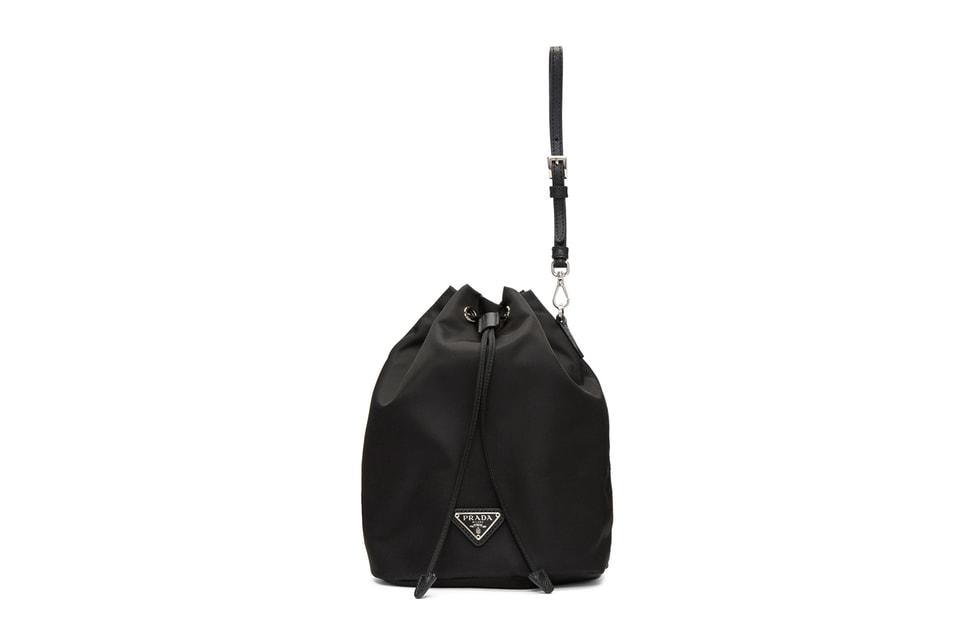 b294167f23 Prada Releases Black Bucket Bag Pouch