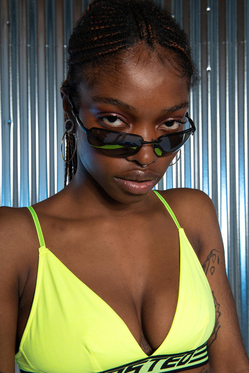 Wasted Paris Underworld Collection Lookbook Nightlife Bold Colors Tinfoil Background rave