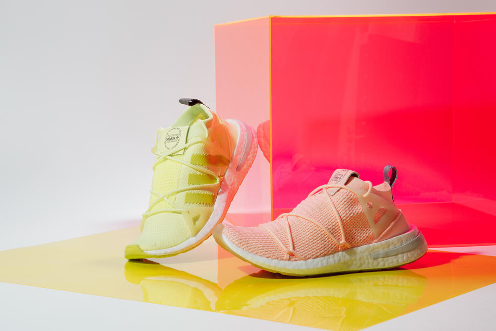 adidas originals arkyn closer look clear orange solar yellow primeknit
