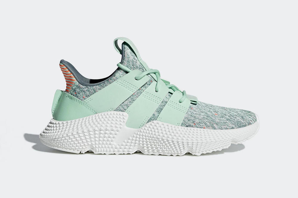 adidas originals prophere trace maroon clear mint raw grey millennial pink