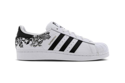 c2cdc1c52bb0 Dark Florals Bloom on These adidas Originals Superstar 80s