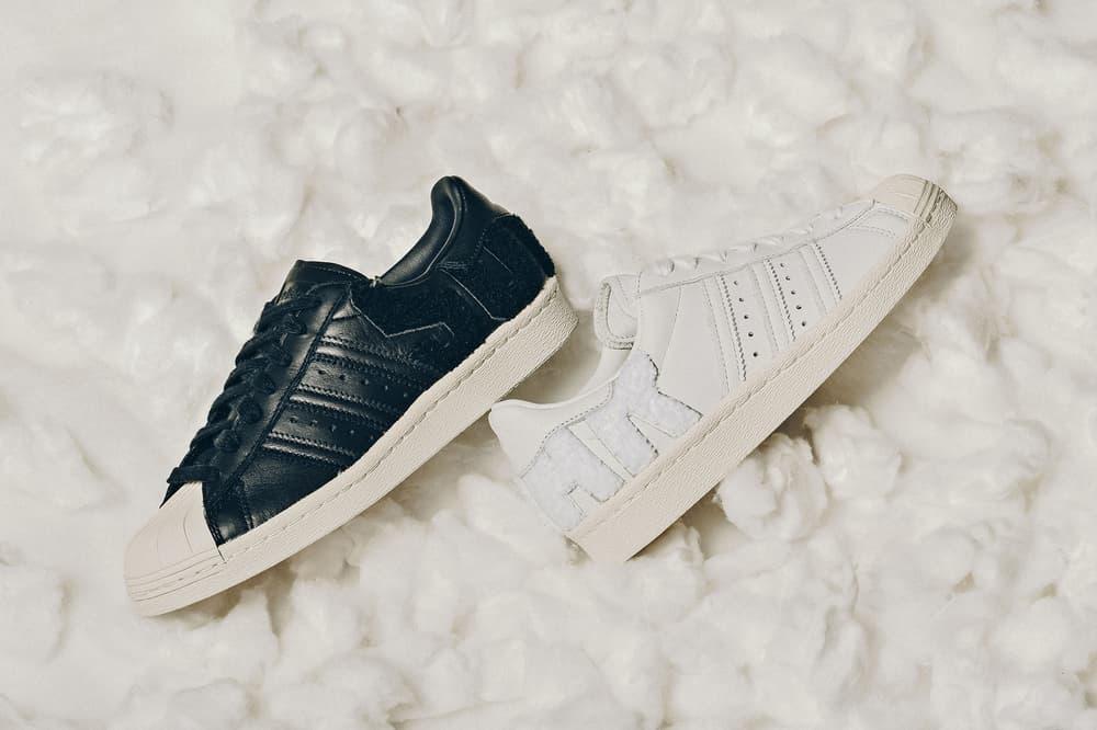 adidas Originals Superstar 80s Varsity Letters Black White