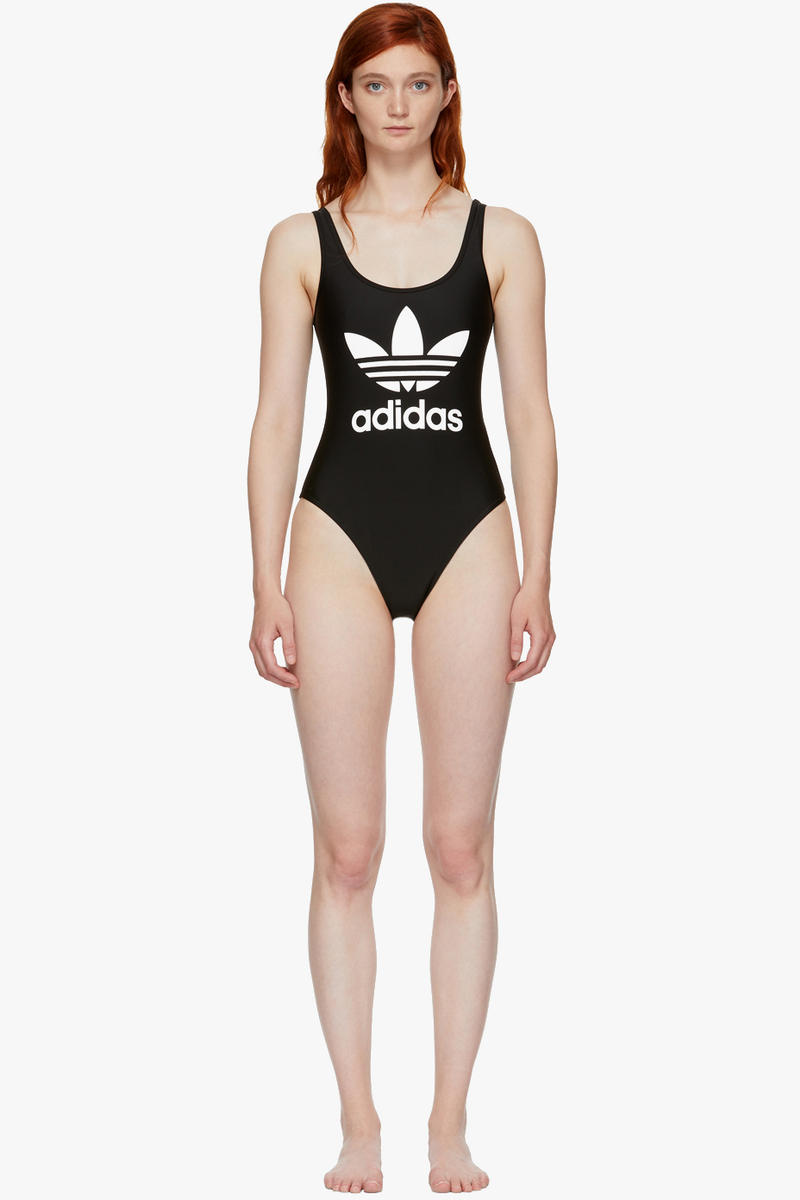 adidas Originals Logo Selection Lounge Pants Black Crop Top Turtleneck Black Trefoil Swimsuit Navy Three-Stripes T-Shirt Black Three-Stripes T-Shirt