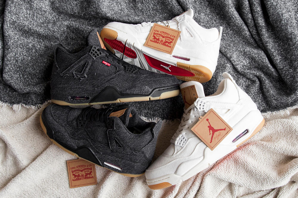 timeless design 8bfc4 0b42f The Air Jordan 4 Is Covered in Levi's Denim | HYPEBAE