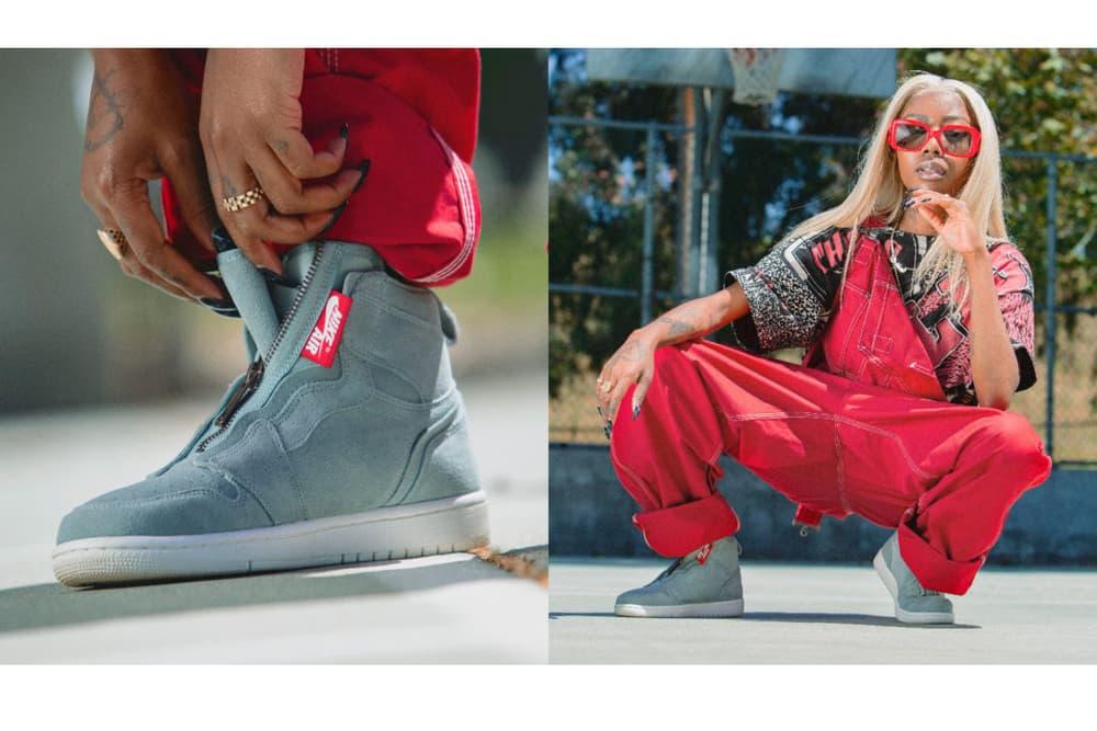 Air Jordan Spring/Summer 2018 Campaign Siobhan Bell 1 Zip Mica Green Sail