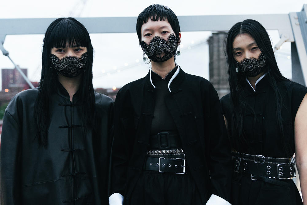 backstage alexander wang collection 1 spring 2019 bella hadid kaia gerber liu wen hiandra martinez