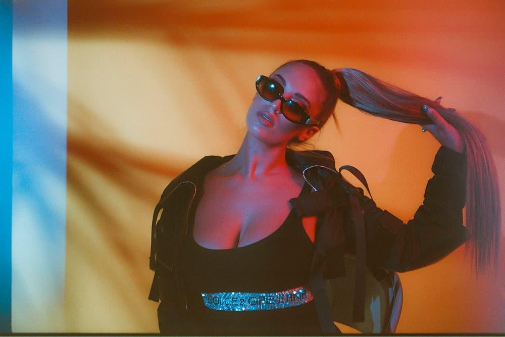 Alina Baraz Singer Ponytail Sunglasses Leather Jacket