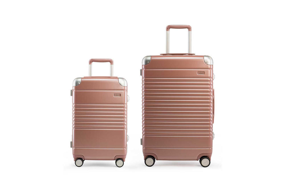Arlo Skye Rose Gold Carry On Check In Suitcase