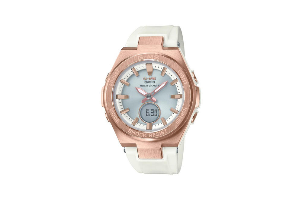 Baby-G Jimisu Watch Collection Rose Gold White