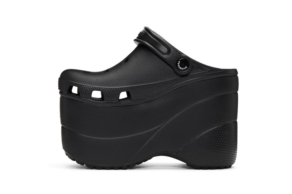 c3ef7cd526b Balenciaga Drops Black Platform Crocs for Summer Iconic Statement Runway  Piece Shoes Sandals Extreme Demna Gvasalia