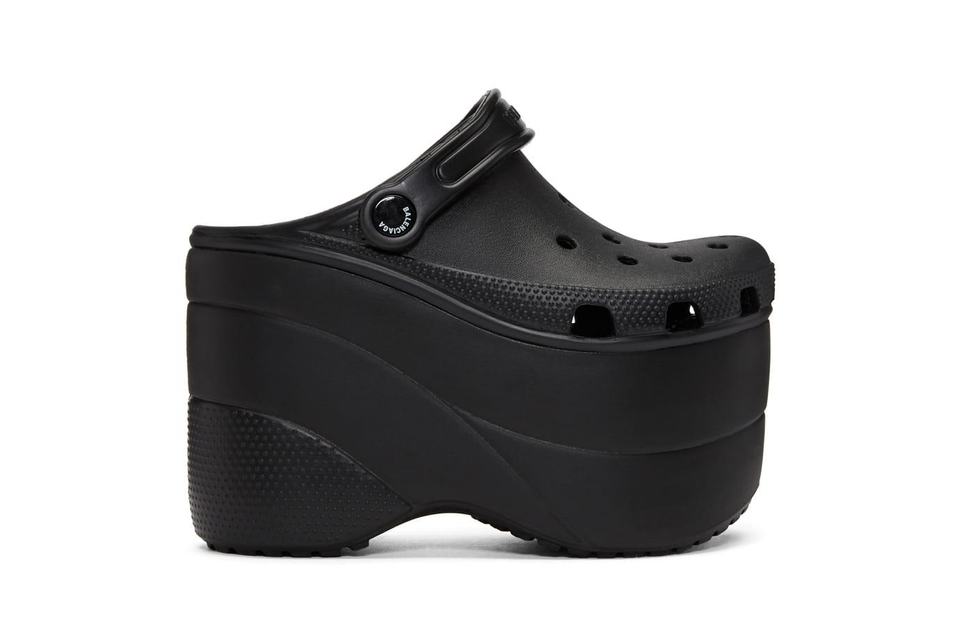 Balenciaga Drops Black Platform Crocs
