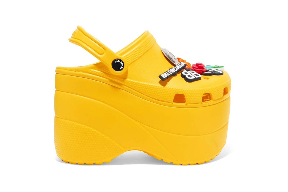 b7e57e4cc51 Balenciaga s Platform Crocs Arrive in Yellow