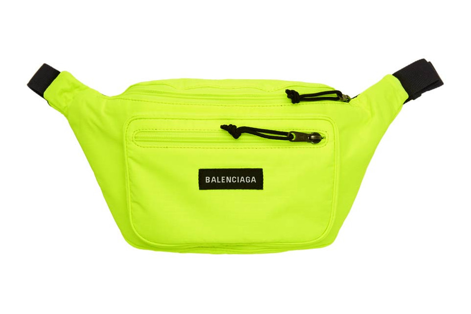 3792f96be28 Balenciaga's Explorer Fanny Pack in Neon Yellow | HYPEBAE
