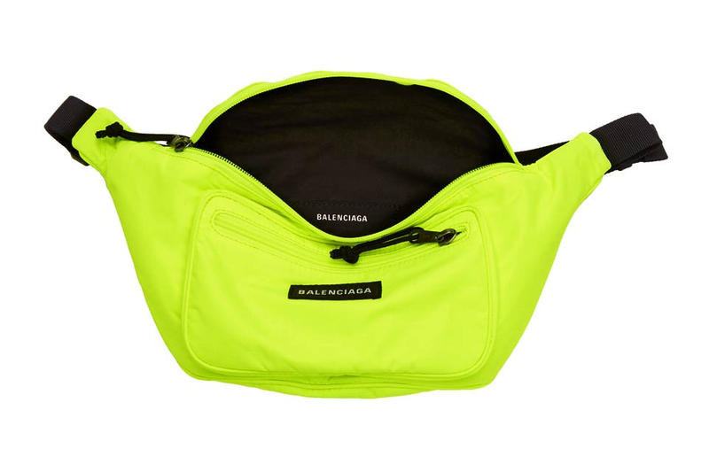 Balenciaga Explorer Belt Pouch Neon Yellow Fanny Pack