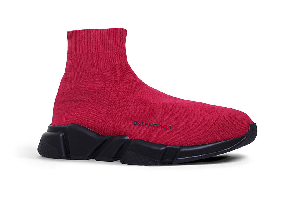 412c60356346 Where to Buy Balenciaga s Speed Trainer in Red