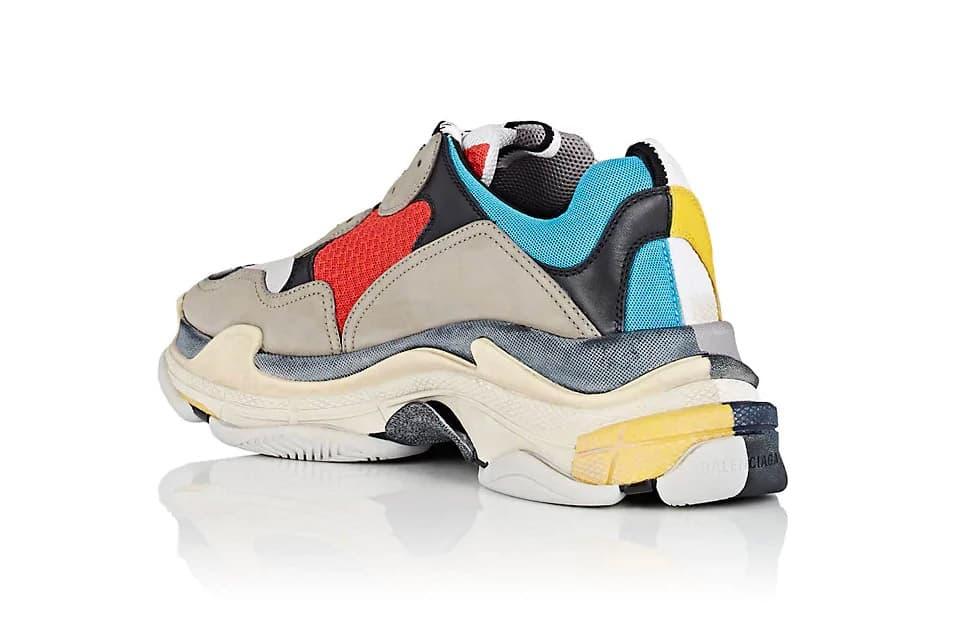 Balenciaga Triple S Sneaker Half Half Colorway Chunky Dad Shoe Demna Gvasalia