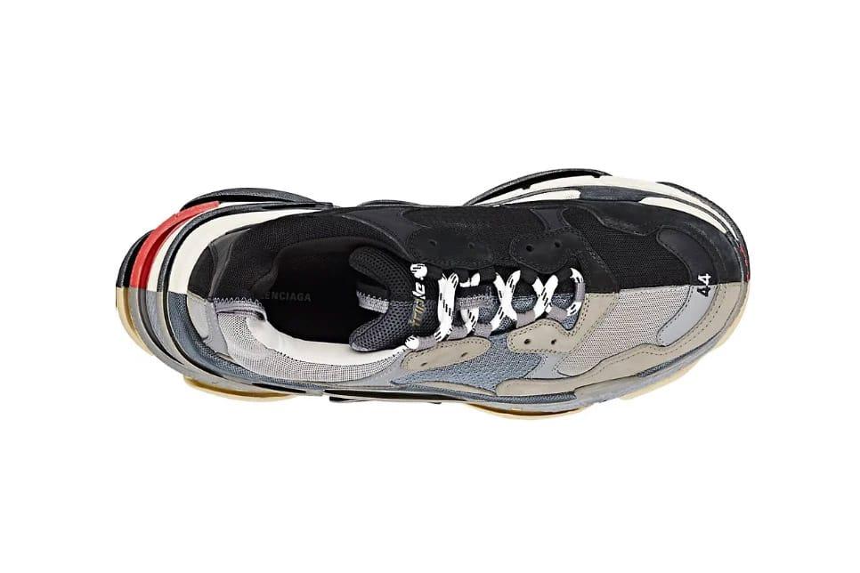 two color balenciaga sneakers