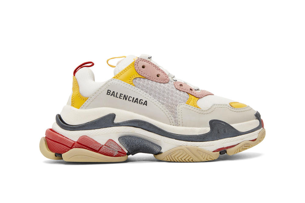 Balenciaga Triple-S White/Pink/Yellow Restock Chunky Sneakers New Model