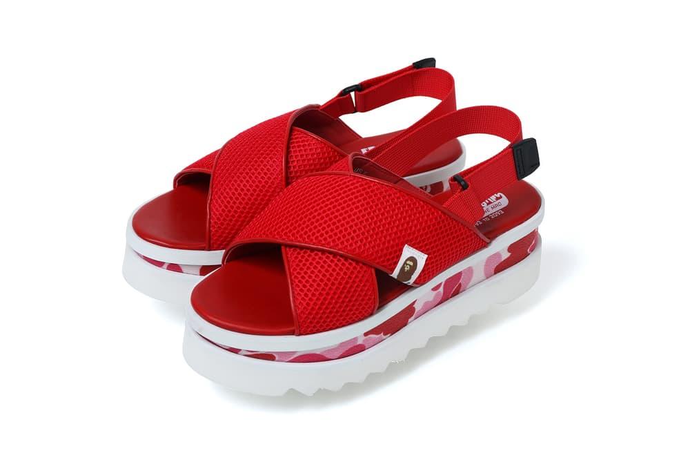 bape spring summer ss18 collection a bathing ape abc camo flatform sandals skirts
