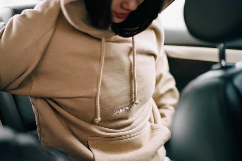 Saintwoods Montreal Canadian Streetwear Brand Creative Agency Beige Hoodie