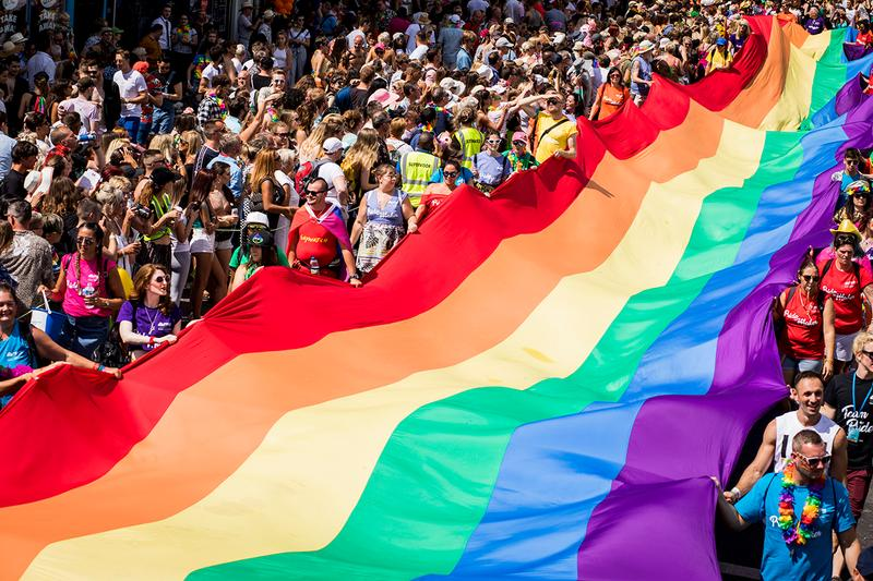 Rainbow Flag LGBT LGBTQ Brighton Pride 2018 Parade Month June