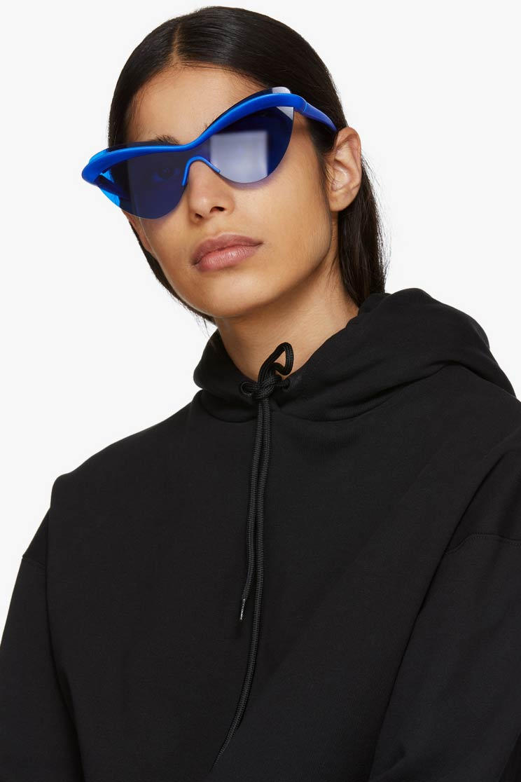 Blue Mykita Edition MMECHO001 Shield Sunglasses