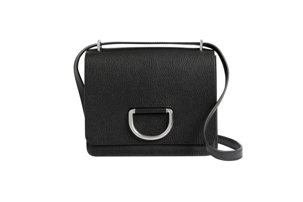 Burberry D-Ring Bag Check Print Black