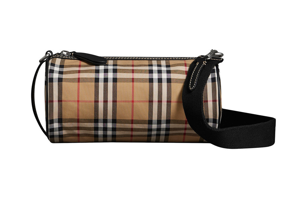 15b6fe06eddc Where to Buy Burberry Vintage Check Barrel Bag