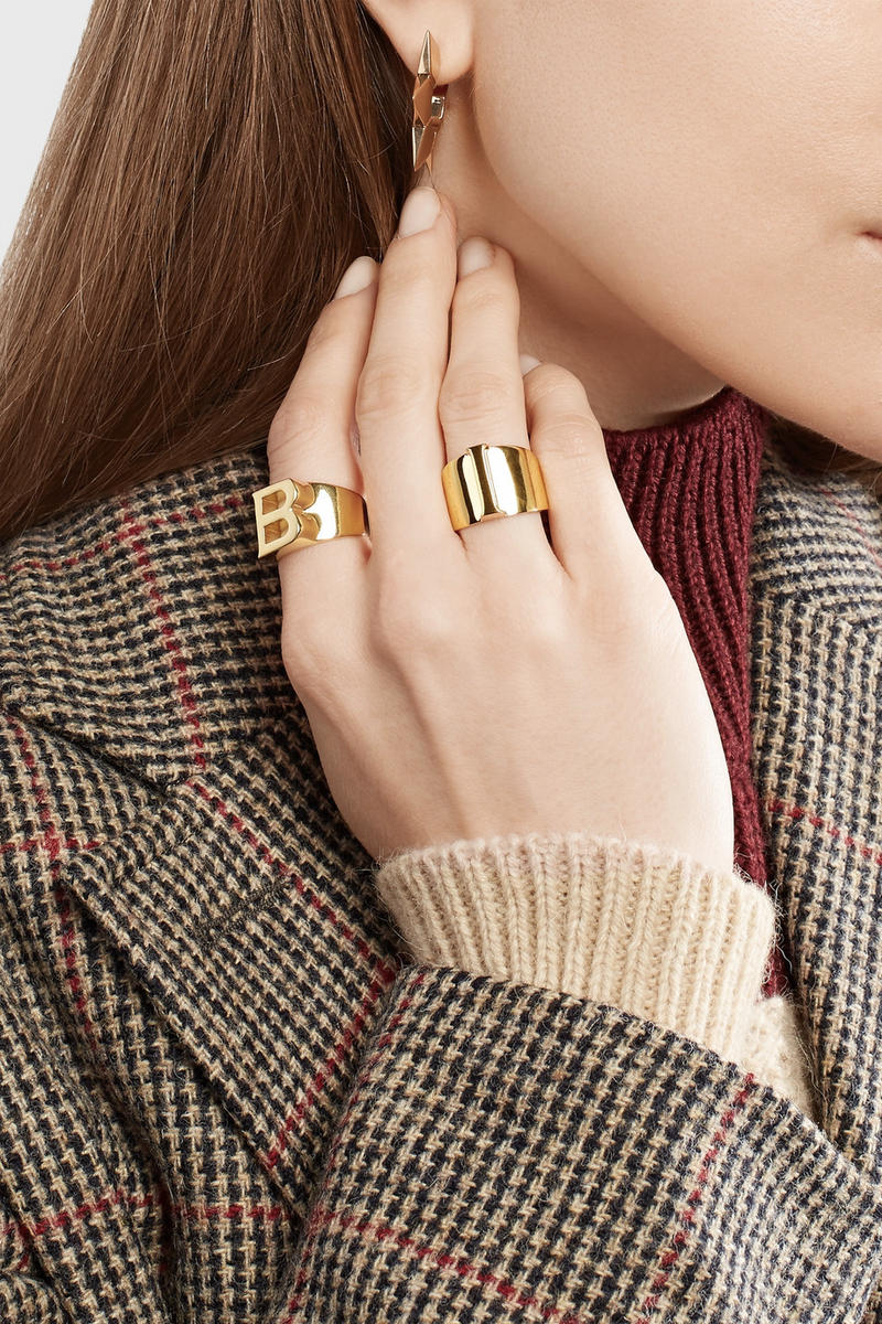 Chloé Gold Alphabet Initial Rings