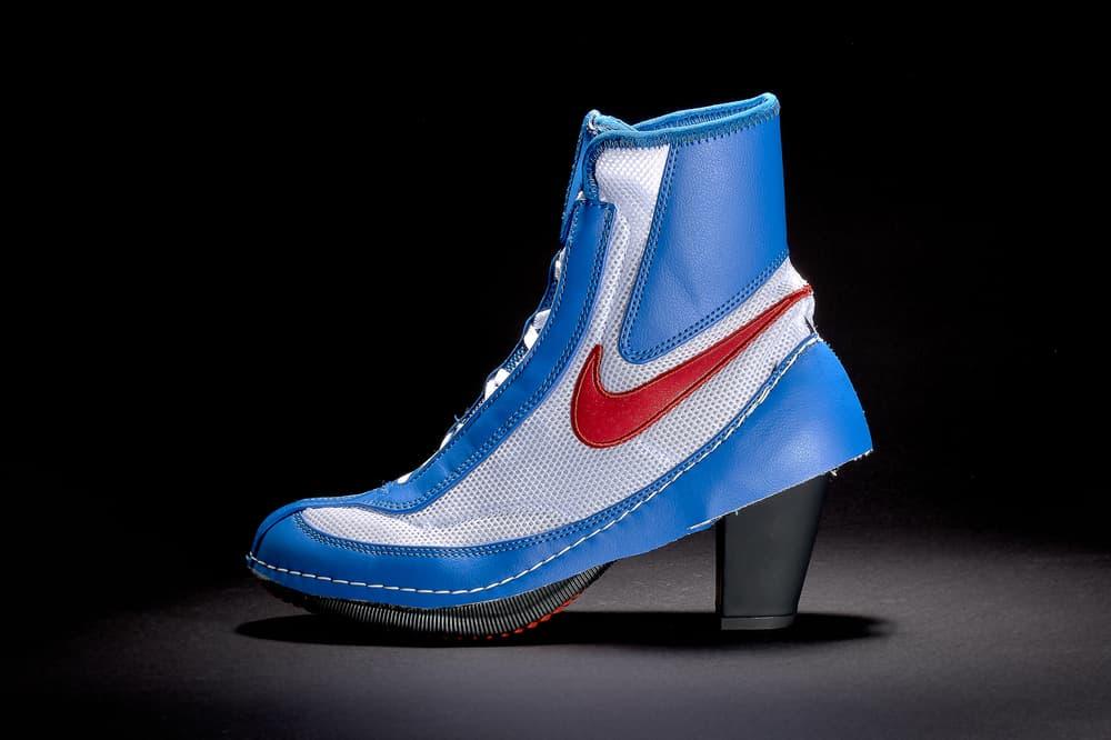 official photos 8fe5a d77f0 COMME des GARCONS x Nike Machomai Sneaker Boots Heel Blue