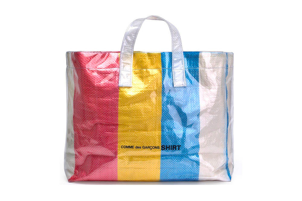 COMME des GARÇONS SHIRT Colored Plastic Bag Yellow Red Blue White
