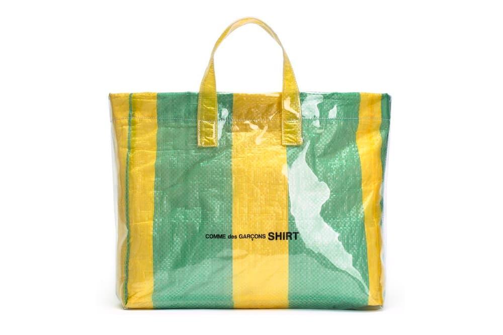 COMME des GARÇONS SHIRT Colored Plastic Bag Yellow Green