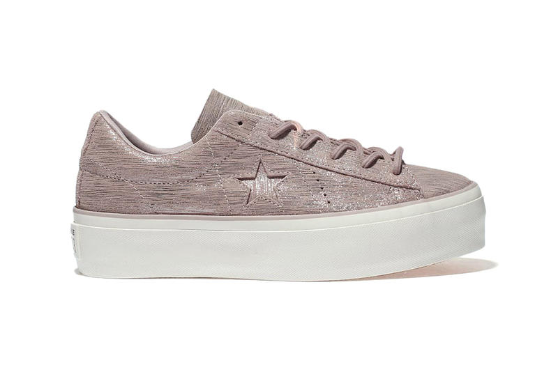 6a767c226ef6 Converse Drops One Star Platform Lilac Black Shimmer Leather Sneaker