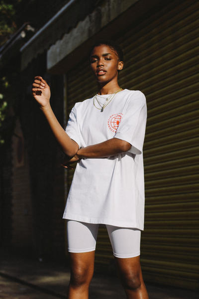 Daily Paper Spring/Summer 2018 Transcends Borders Collection Editorial Logo T-shirt White