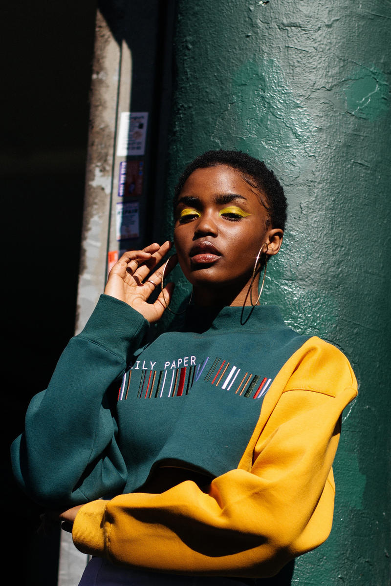 Daily Paper Spring/Summer 2018 Transcends Borders Collection Editorial Cleo Cropped Sweater Dark Green